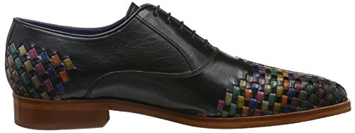 Melvin & Hamilton Lewis 17, Chaussures à Lacets Homme Mehrfarbig (Classic Black/Intelaced Multi LS NAT.)