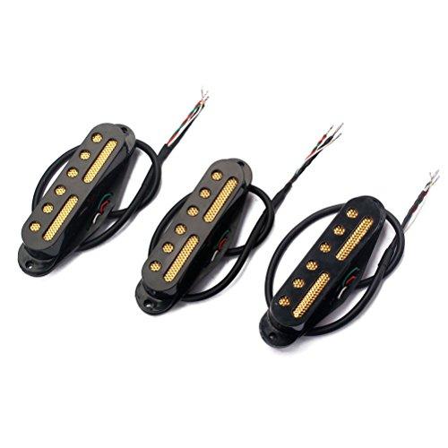 Standard-steg (healifty SSS Standard Einfache Spule Magnet Tonabnehmer Hals/Mitte/Brücke Pickup Set 48/50/52mm Elektrische Gitarre teilig Zubehör Ersatz-(schwarz))