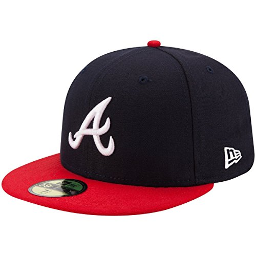es Authentic 59FIFTY Fitted MLB Cap Home, 7 5/8 (Atlanta Braves Hüte)