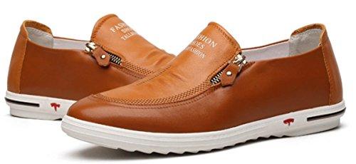 DADAWEN Chaussures de ville homme mocassins Homme/Adulte Jaune