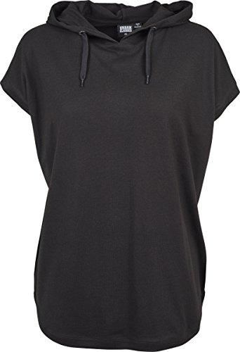 Urban Classics Damen T-Shirt Ladies Sleeveless Jersey Hoody Schwarz (Black 00007)