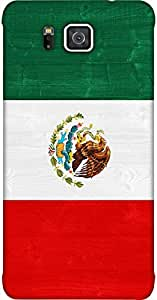 Timpax Hard Back Case Cover Printed Design : Flag of Mexico.Compatible with Samsung Galaxy ALPHA