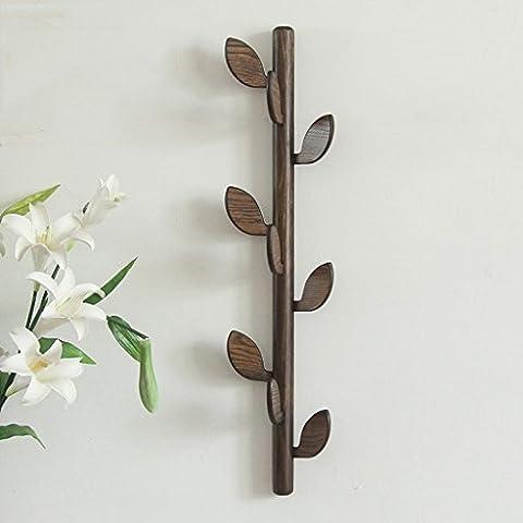 Cintre multifonction en bois massif haut de gamme Porte-manteau Crochet