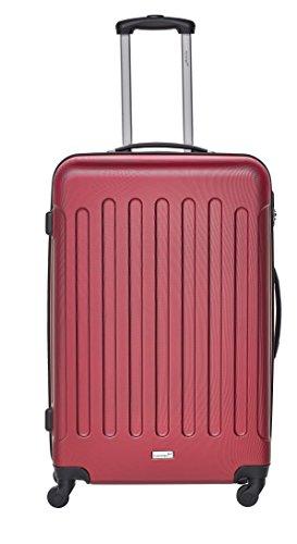Packenger Kofferset - Travelstar - 3-teilig (M, L & XL), Rot, 4 Rollen, Koffer mit Zahlenschloss, Hartschalenkoffer (ABS) robuster Trolley Reisekoffer - 2