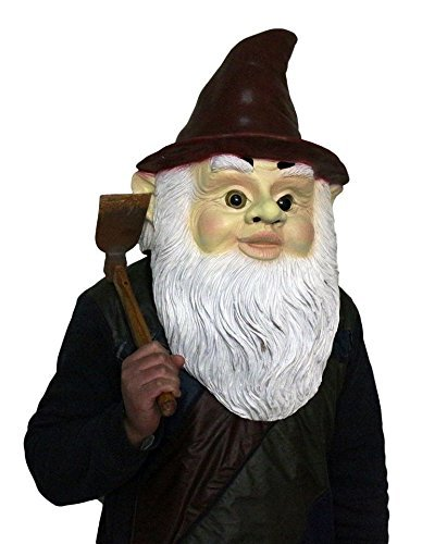 Gnome Maske Latex Kostüm Halloween Zauberer Zwerg Zwerg Zwerg Garten von Coopers Fancy Dress (Gnome Maske)