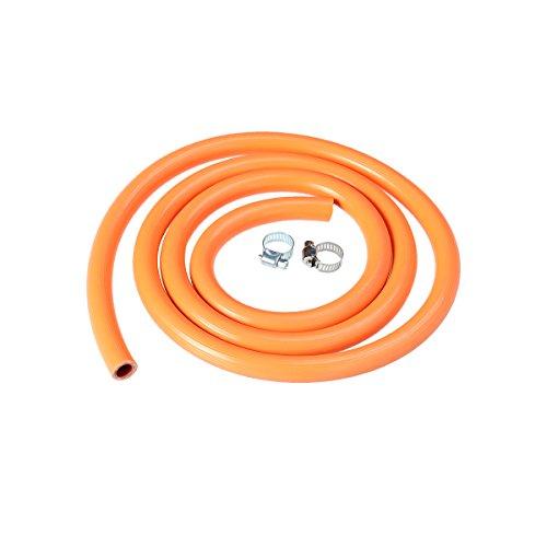 OUNONA Tube Flexible de gaz de Chauffe-Eau de Tuyau de gaz de 150cm avec 2 Garnitures pour Le Fourneau de gaz (Orange)