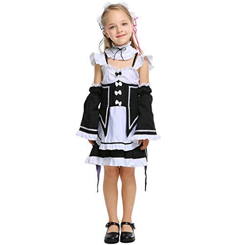Nettes Kostüm Mädchen Vampir - Nettes Mädchen Cafe Maid Uniform, Persönlichkeit Anime Charakter Cosplay Kleid, ideal für die Schule Leistung Kostüm Party verwenden S