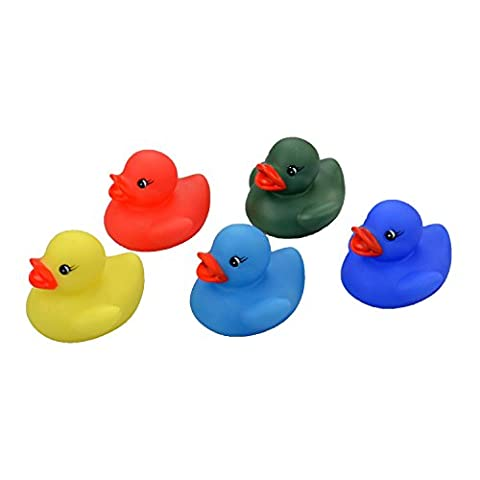 Set of 5 Rubber Colour Changing Ducks Fun Kids Bath Toy New Baby Duck Time Heat by zizzi