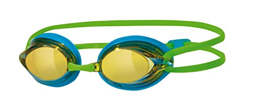 Zoggs Schwimmbrille Racespex Mirror, Blue/Green, OS, 303794