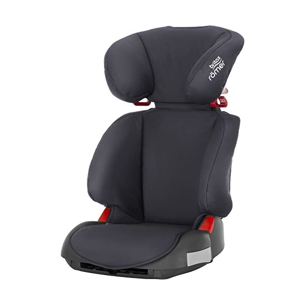 Britax Römer Adventure Group 2-3 (15-36kg) Car Seat - Storm Grey Britax Römer Intuitively positioned seat belt guides for straightforward installation every time Reassurance of high back booster safety with side impact protection Lightweight, easily transferable shell 1