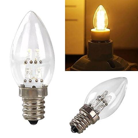 Gladle E12 0.5W 80LM Warmes weißes Licht LED Kerze-Lampe (Wechselstrom 220V)