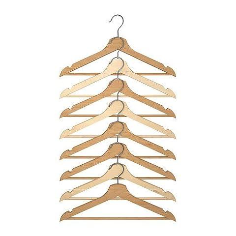 Ikea - Bracelet Couleur 8-Naturel Cintre En Bois Pack
