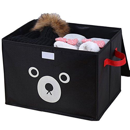 Hosaire 1x Aufbewahrungsbox Mode Klein Bär Muster Kleider BH Unterwäsche Aufbewahrungskiste Socke Aufbewahrungs-Box,38 x 28 x 28 cm (Einfache Socken Muster)