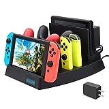 Chargeur pour Nintendo Switch [Nouvelle Version 2019], FYOUNG Station de Charge pour...