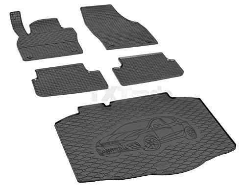 Passende Gummimatten und Kofferraumwanne Set geeignet für SEAT Ibiza ab 2017ein Satz