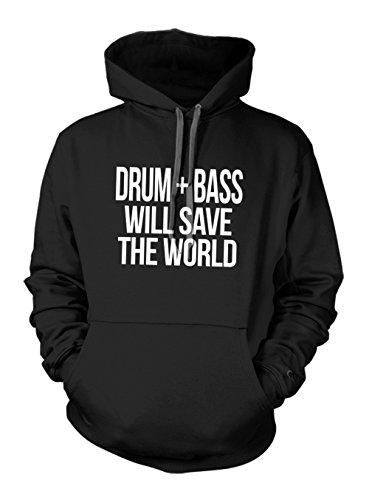 Drum And Bass Will Save The World Hoodie Sweatshirt Schwarz XX-Large