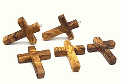 Woodisland - Croix en bois d'olivier artisanale
