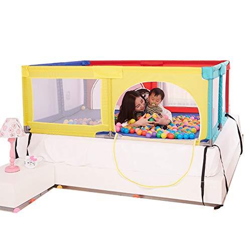 Playpen Big Bed Anti-drop Baffle for Infants, Baby Indoor Outdoor, Kid's Safety Activity Center, 180x190x70cm (color : Multicolor)  ERRU