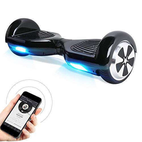 "Hoverboard, 6.5\"" Elektro Scooter mit APP Funktion, Bluetooth Lautsprecher, 700W Motor, LED, Self-Balance E-Skateboard"