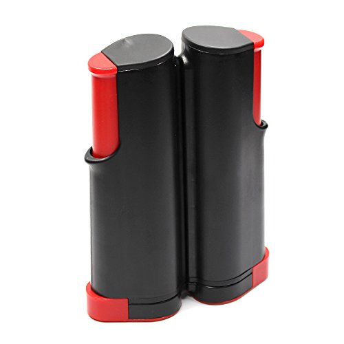Rete per oing pong, portatile, retrattile, accessorio di ricambio (rosso)