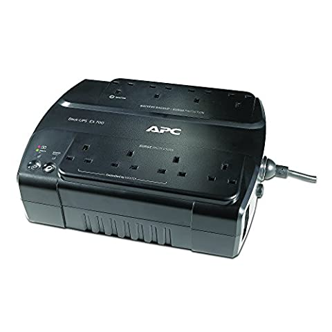 APC Back-UPS ES 700 - Uninterruptible Power Supply 700VA, - BE700G-UK - 8 Outlets - Surge protected