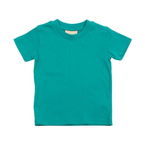 Larkwood- Camiseta de manga corta de cuello redondo para bebé (0-6 Meses, Jade) 2