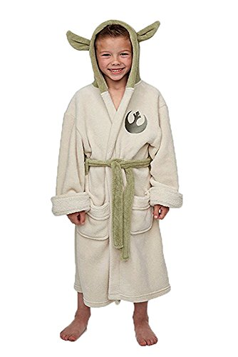 Jedi Damen Kostüme (Star Wars Yoda Jedi Ears Fleece Bademantel Kinder Cosplay)