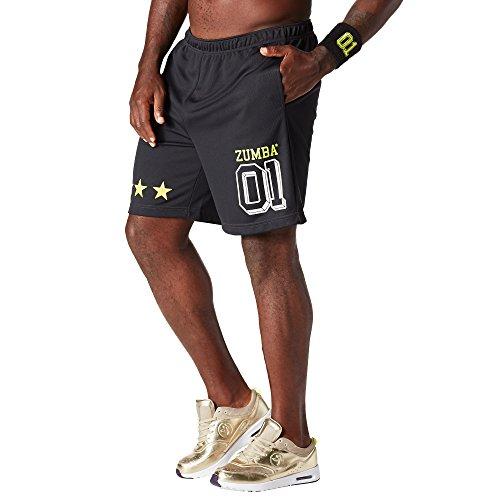 Zumba Fitness Herren Team Zumba Shorts Männer Unterseiten, Back to Black, XL - Latin Dance Pants