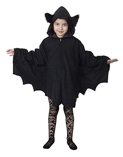 Confettery - Mädchen Karneval Halloween Superheldin, Kinder Fledermaus-Poncho, 140, 10 Jahre, (Poncho Spinnennetz Kostüm)