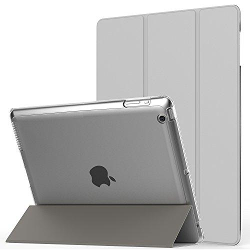 MoKo Hülle für iPad 2 / 3 / 4 - PU Leder Tasche Schale Smart Case mit Translucent Rücken Deckel, mit Auto Schlaf/Wach Funktion und Standfunktion für Apple iPad 2 - Generation 64 Gb Ipad 4.