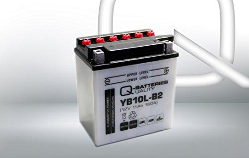 Preisvergleich Produktbild Q-Batteries Motorrad-Batterie YB10L-B2 51113 12V 11Ah 160A
