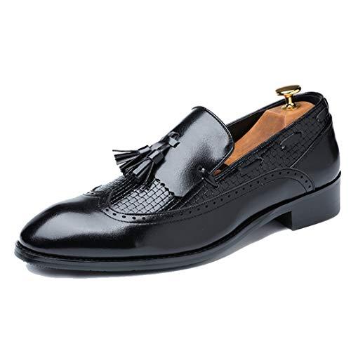 Zapatos Vestir Cuero Hombres Mocasines borlas Zapatos