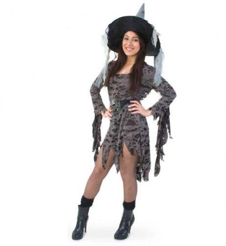 Fasching Karneval Kostüm Voodoo Queen, Kleid Hexe schwarz, Halloween: Größe: 34