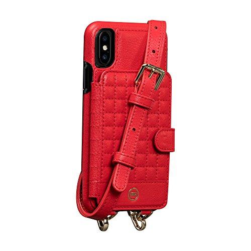 Sena Isa Schutzhülle für iPhone, Leder, zum Aufstecken, rot -