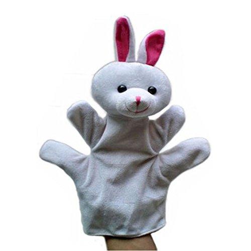 Precioso conejo de peluche marionetas de mano