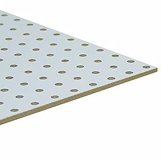 Möbelbauplatte HDF-Lochplatte Leimholz einseitig Weiß 1300 x 500 x 3 mm