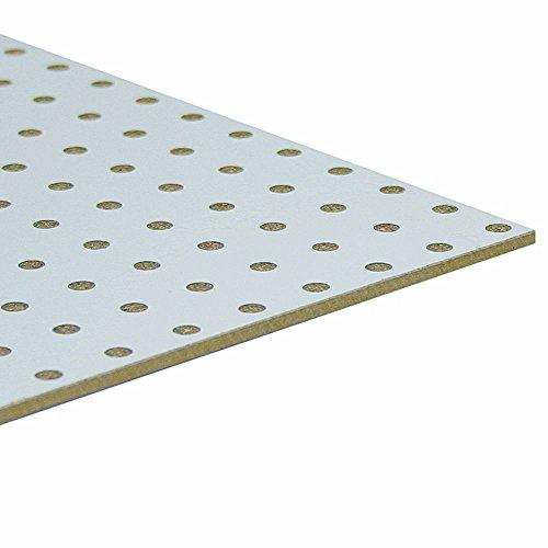 Möbelbauplatte HDF-Lochplatte Leimholz einseitig Weiß 860 x 500 x 3 mm