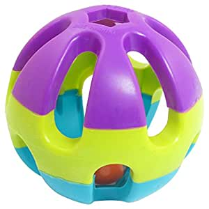 Multi Color plastique boule creuse Jingle Bell Dog Pet Toy Lecture