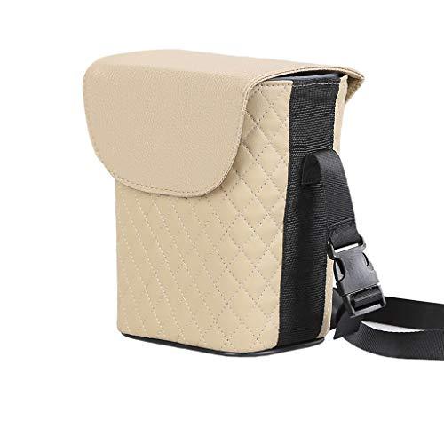 Trash can pattumiera- bidone della spazzatura dell'automobile, supporto interno lavabile smontabile, pattumiera impermeabile (colore : beige)