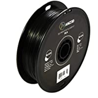 1.75mm Black PLA 3D Printer Filament - 1kg Spool (2.2 lbs) - Dimensional Accuracy +/- 0.03mm