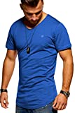 JACK & JONES Herren T-Shirt Kurzarmshirt Oversize Longshirt Basic V-Neck (Large, Surf The Web)