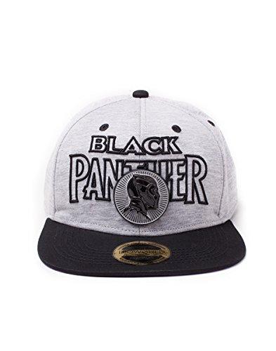 Black Panther - Logo Metal Badge Herren Kappe - Grau