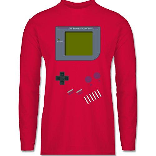 Shirtracer Nerds & Geeks - Gameboy - Herren Langarmshirt Rot