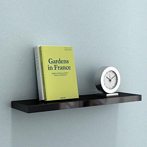 En bois Conseil Rack Chambre Salon Mur Wall Bookshelf Mur Flottant Plateau Noir Piano Peinture Profondeur 20 cm (taille : 40cm)