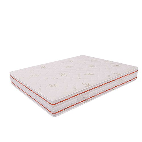 Miasuite - Materasso Matrimoniale in Memory Foam 160x200 alto 25 Cm con Dispositivo Medico ortopedico e rivestimento Aloe Vera anallergico ed antiacaro ideale per letto matrimoniale, materasso memory matrimoniale con lastra in memory foam da 6 cm e lastra in waterfoam da 18 Cm, Materasso Top