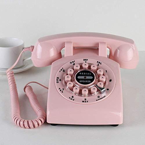 HYLH Vintage-Stil Parlament, Europa und USA Ländliches Wohnzimmer Nachtbudget Telefon Mobiltelefon (Farbe: pink)