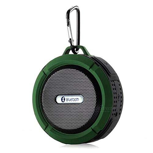 MIJIN Drahtlose Bluetooth 4.0 Stereo Portable Speaker eingebaute mic Schock-Resistance IPX6 Waterproof Speaker mit Bass,Green (Surround-sound-system 1000w)
