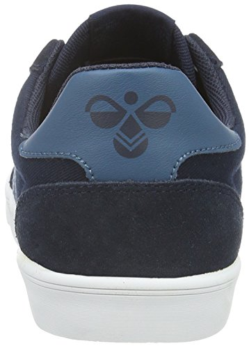 Hummel Slimmer Stadil Duo Canvas Low, Baskets Basses Mixte Adulte Bleu (Total Eclipse)