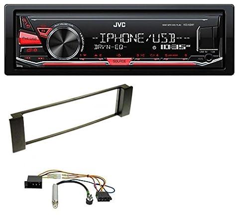 JVC KD-X241 MP3 AUX USB 1DIN Autoradio für Audi A3 (8L 00-03) A6 (C5 01-05)