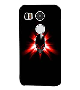 PrintDhaba Mask D-1994 Back Case Cover for LG NEXUS 5X (Multi-Coloured)